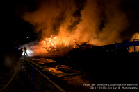 Fire in Laudenbach Mainstation 2013/12